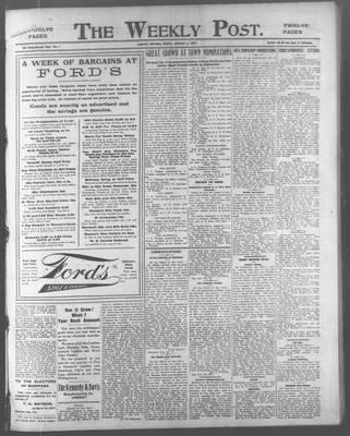Lindsay Weekly Post (1898), 4 Jan 1907