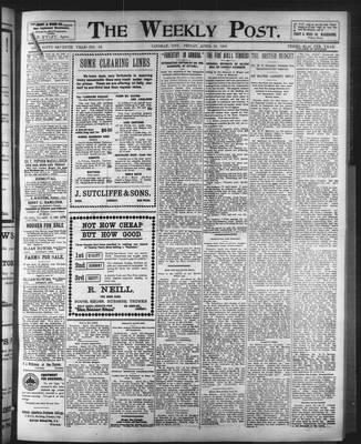 Lindsay Weekly Post (1898), 18 Apr 1902