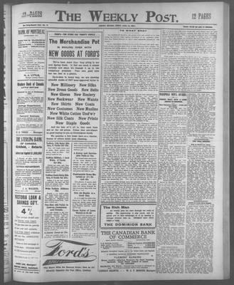 Lindsay Weekly Post (1898), 12 Apr 1907