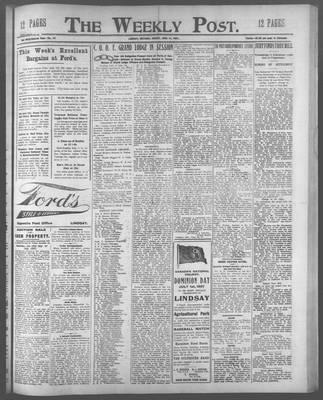Lindsay Weekly Post (1898), 21 Jun 1907