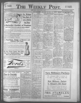 Lindsay Weekly Post (1898), 13 Sep 1907