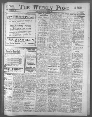 Lindsay Weekly Post (1898), 20 Sep 1907
