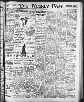 Lindsay Weekly Post (1898), 31 Oct 1902