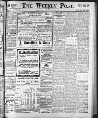 Lindsay Weekly Post (1898), 14 Nov 1902