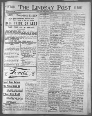 Lindsay Post (1907), 22 Nov 1907
