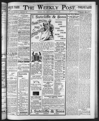 Lindsay Weekly Post (1898), 12 Dec 1902