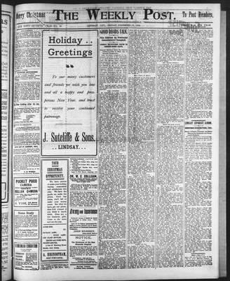 Lindsay Weekly Post (1898), 26 Dec 1902