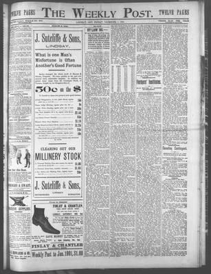 Lindsay Weekly Post (1898), 1 Dec 1899