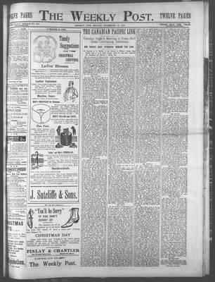 Lindsay Weekly Post (1898), 15 Dec 1899