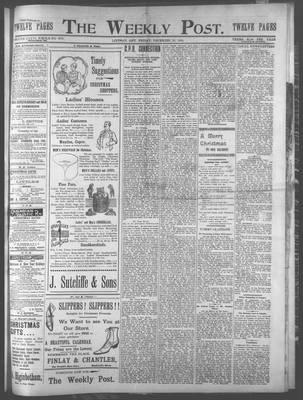 Lindsay Weekly Post (1898), 22 Dec 1899