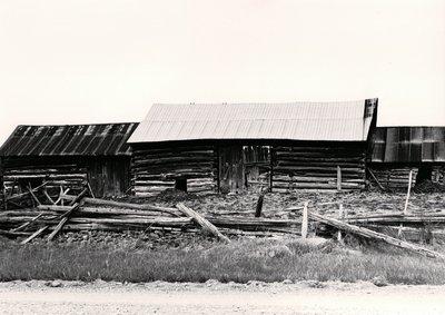 Plate 26, English log barn, Carden Township