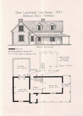 John Langton's Log House, 1837, Fenelon Falls