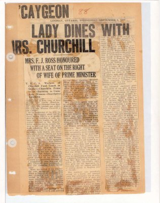 Page 77: 'Caygeon Lady Dines With Mrs. Churchill