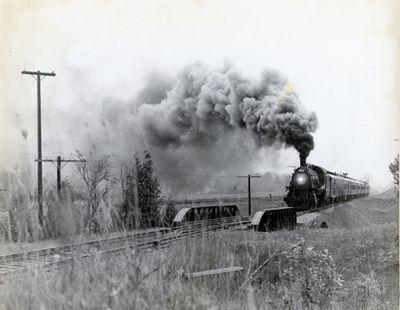 page 27 - Train engine at bridge