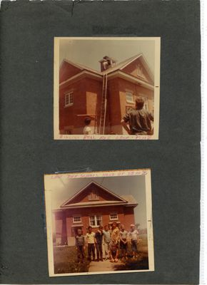 Last Day at S.S. No. 2 Verulam. School closed 1969.