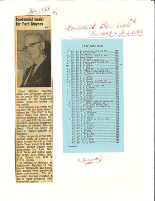 """On the Main Street"" - newsletter of Free Masons, 6 February 1968"