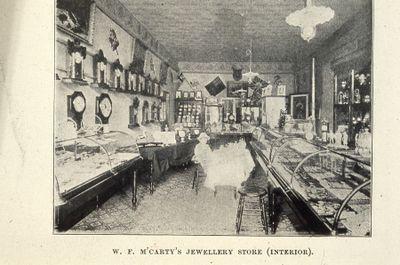 McCarty's Jewellery Store interior 1898