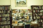 Interior of Carnegie library, magazines and painting of Lindsay Town Hall, 1975