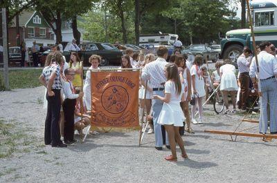 Loyal Orange Parade in Lindsay, 1975
