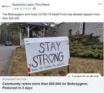April 1: Bobcaygeon community raises more than $20,000 in 3 days for local relief fund