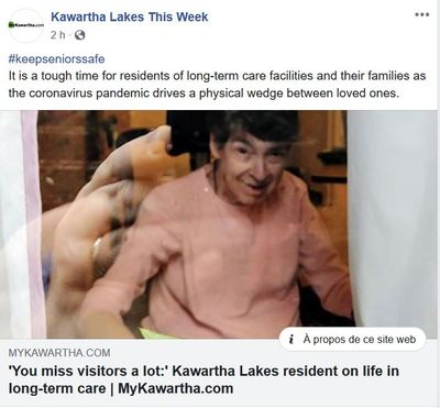 April 29: 'You miss visitors a lot:' Kawartha Lakes resident on life in long-term care