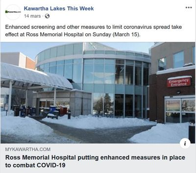 March 15: Ross Memorial Hospital tightens screening to combat COVID-19