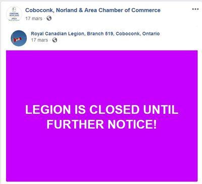 Royal Canadian Legion, Branch 519, Coboconk