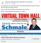 March 25: Jamie Schmale, MPP hosting a virtual town hall