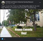 Happy Canada Day - Kirk. Dist. Historical Society