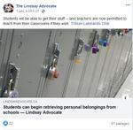 June 1: Students can begin retrieving personal belongings from schools