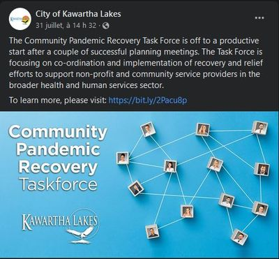July 31: Community Pandemic Recovery Task Force off to a productive start