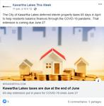 June 11: Kawartha Lakes taxes are due at the end of June