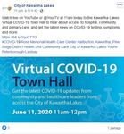 June 11: Virtual Town Hall