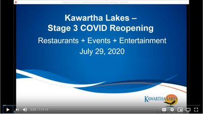 July 29: Stage 3 COVID reopening - Restaurants + Events + Entertainment