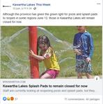 June 12: Kawartha Lakes splash pads to remain closed for now