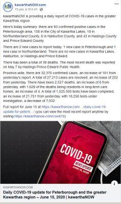 June 15: Daily COVID Update