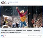 June 15: Garth Brooks concert to be held at 300 drive-ins - including Mustang (Lindsay)
