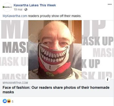 May 19: Face of fashion - our readers share photos of their homemade masks