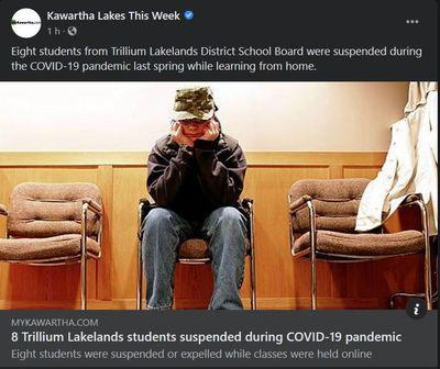 September 21: 8 Trillium Lakelands students suspended during COVID-19 pandemic