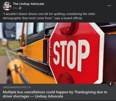 September 24: Multiple bus cancellations could happen by Thanksgiving due to driver shortages