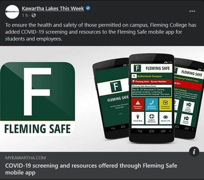 September 24: COVID-19 screening and resources offered through Fleming Safe mobile app