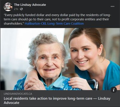 September 24: Local residents take action to improve long-term care