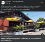 September 29: Kawartha Lakes restaurants might have to get creative to prolong patios