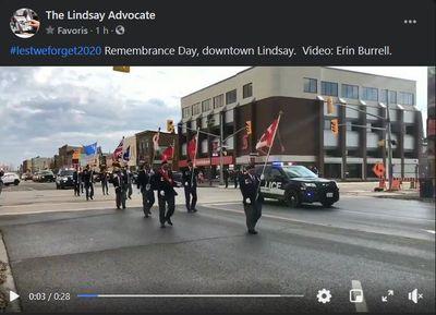 November 11: Remembrance Day 2020 in Lindsay