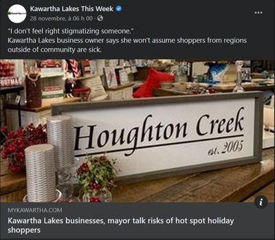 November 27: Kawartha Lakes businesses, mayor talk risks of hot spot holiday shoppers