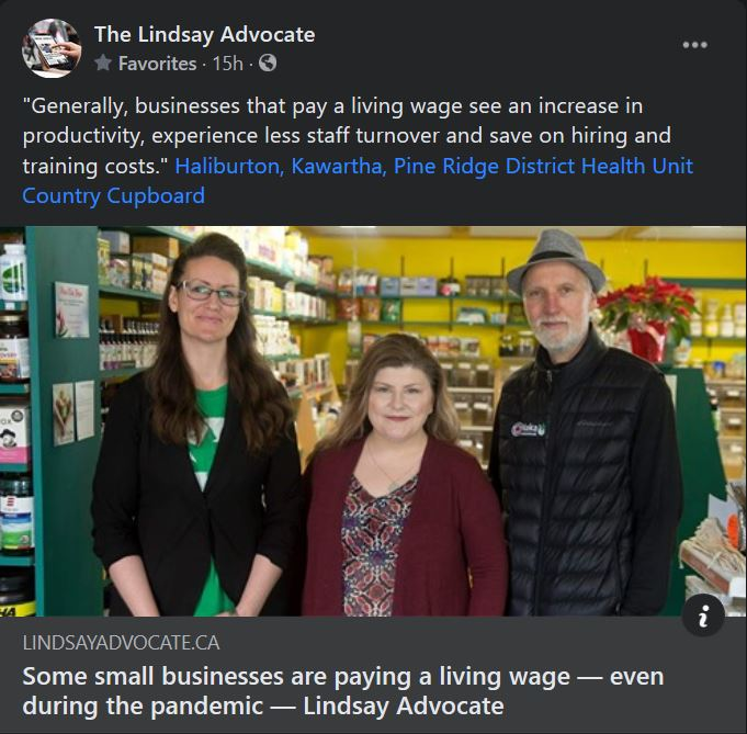 December 1: Some small businesses are paying a living wage - even during the pandemic