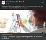 December 1: Keeping connected key to combating COVID-19 in winter for seniors