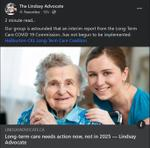 December 14: Long-term care needs action now, not in 2025