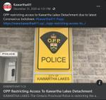 December 31: OPP restricting access to Kawartha Lakes detachment