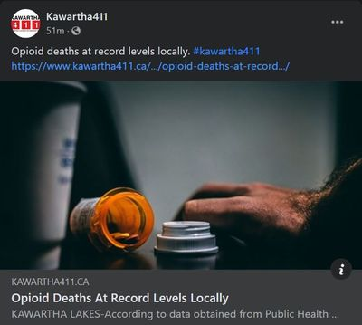 January 8: Opiod deaths at record levels locally